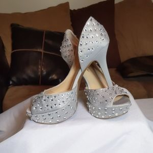Sexy Gianni Bini sequin satin heels